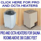 Amerec Pro and Octa Sauna Heaters