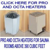 Amerec Pro and Octa Sauna Heaters